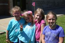 Meadow's Edge students enjoying field day