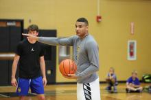Austin Torres leading Summer 2017 basketball camp